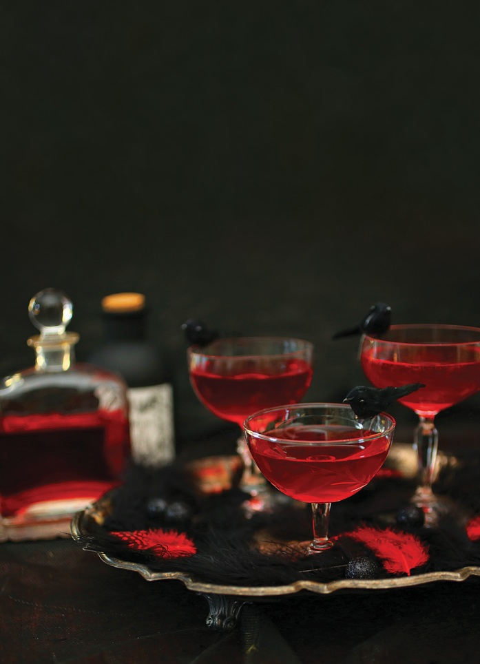 Crow's Blood Champagne Cocktails