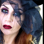 Gothic Black Widow Halloween Makeup