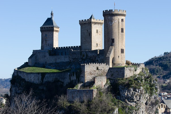Castle Foix, an example of architecture from the Medieval era