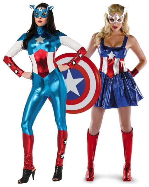 Women's Captain America costumes and American Dream costumes